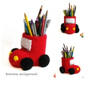 pattern pencil holcer car pdf english by ternura amigurumi