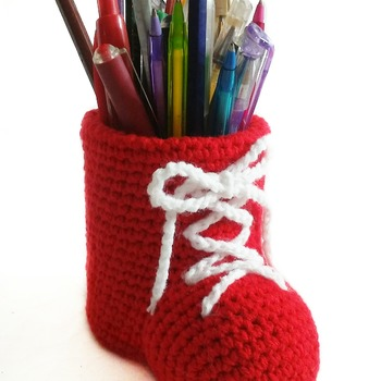 pattern pencil holder shoes pdf english by ternura amigurumi