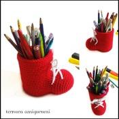 pattern pencil holder shoes pdf english by ternura amigurumi
